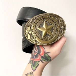 Tony Lama The State of Texas Belt Size 53 Buckle